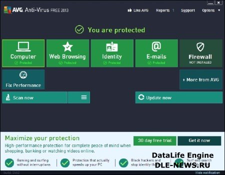 AVG Anti-Virus Free Edition 2013 3392a6523